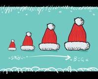 Красный шлем рождества Стоковое Изображение