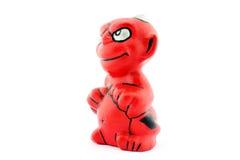 Красный дьявол изолированный на белизне Стоковые Изображения RF