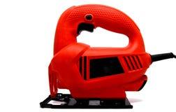 Красный электрический изолированный зигзаг Стоковые Изображения