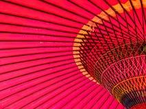 Красный японский зонтик 1 Стоковое Изображение RF