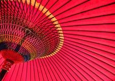 Красный японский зонтик 2 Стоковое Изображение RF