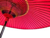 Красный японский зонтик 3 Стоковое Фото