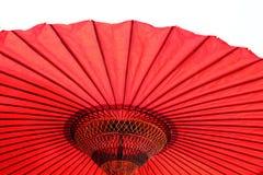 Красный японский зонтик Стоковая Фотография