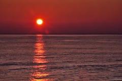 Красный яркий блеск солнца Стоковое Изображение RF