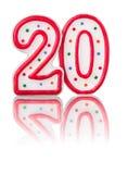 Красный 20 иллюстрация вектора