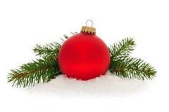 Красный bauble рождества Стоковые Фото
