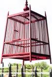 Красный birdcage Стоковое Изображение
