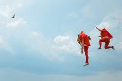 Красный Bull Flugtag 2016 в Варне Участники скачут в море Стоковое Фото