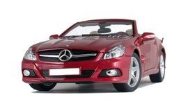 Красный cabriolet автомобиля стоковые фото