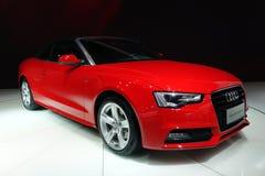 Красный Cabriolet Audi a5 стоковое фото rf