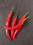 Красный chili на таблице Стоковое Изображение RF