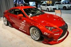 Красный Coupe спорт Lexus RCF Стоковые Изображения RF