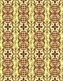 Красный Cream безшовный цветочный узор Стоковое Изображение