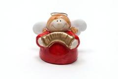 Красный figurine ангела Стоковая Фотография RF