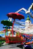 Красный funfair места carousel стоковое фото