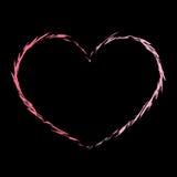 Красный grunge 3 значка сердца иллюстрация штока