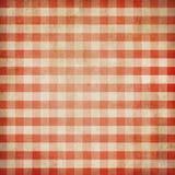 Красный grunge проверил скатерть пикника холстинки Стоковая Фотография RF