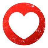 Красный grunge сердца иллюстрация вектора