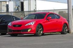 Красный Hyundai Стоковое Изображение RF
