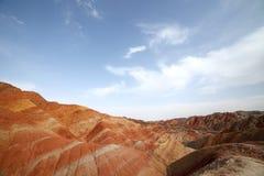 Красный landform Утес-Zhangye Danxia Стоковые Фото