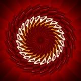 красный sawblade Стоковое Изображение