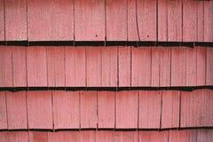 красный siding гонта Стоковая Фотография