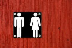Красный Signage ванной комнаты Стоковые Фотографии RF