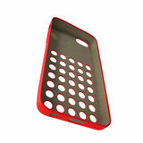 Красный smartphone крышки на белизне иллюстрация 3d Стоковое Изображение RF