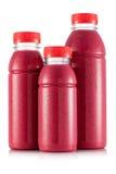 Красный smoothie плодоовощ в размере 3 бутылки Стоковые Изображения