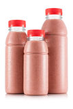 Красный smoothie ftruit в размере 3 бутылки Стоковое Фото