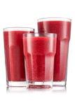 Красный smoothie ftruit в размере 3 стекла Стоковое Фото