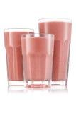 Красный smoothie ftruit в размере 3 стекла Стоковые Фото