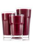 Красный smoothie ftruit в размере 3 стекла Стоковая Фотография