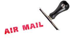 Красный stamper воздушной почты текста избитой фразы grunge Стоковая Фотография RF