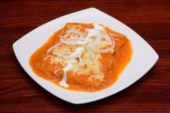 красный tacos соуса стоковая фотография