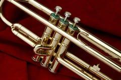 красный trumpet замши Стоковые Фотографии RF