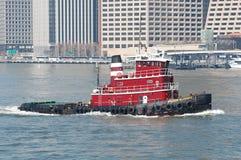 красный tugboat Стоковое Изображение