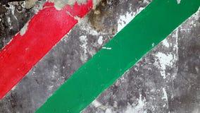 Красным покрашенные зеленым цветом нашивки Grunge Стоковое Фото