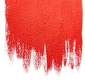 Красным предпосылка покрашенная acrylic Стоковое фото RF