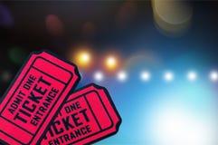 2 красных билета на запачканной предпосылке Стоковая Фотография