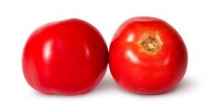 2 красных зрелых томата Стоковое Фото
