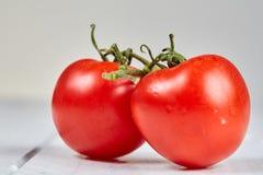 2 красных зрелых томата Стоковые Фото
