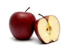 2 красных зрелых яблока Стоковое фото RF