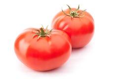 2 красных изолированного томата Стоковые Изображения RF