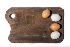2 красных и 2 белых яичка Стоковое Фото