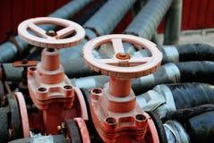 2 красных клапана Стоковые Изображения RF