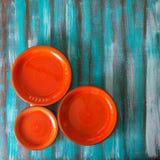 3 красных плиты Стоковое Изображение RF