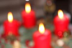 4 красных свечи пришествия Стоковые Изображения RF