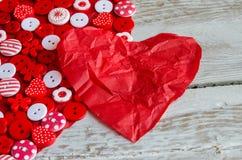 2 красных сердца на предпосылке Стоковое Изображение
