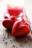 2 красных сердца Стоковые Фотографии RF